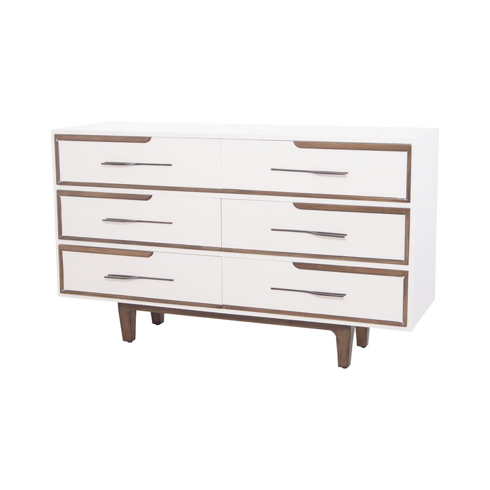 7011-1068 Hendron 6 Drawer Chest Cappuccino Foam, Heritage Grey