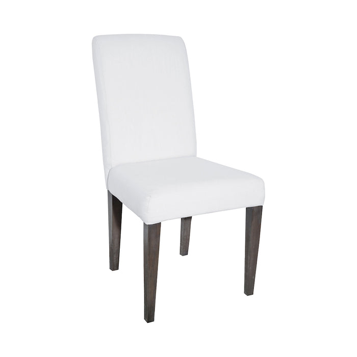 7011-122 Couture Covers Parsons Chair In Heritage Stain With White Wash Heritage Stain, Whitewash