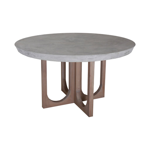 7011-1497 Innwood Round Dining Table Waxed Concrete, Blonde Stain