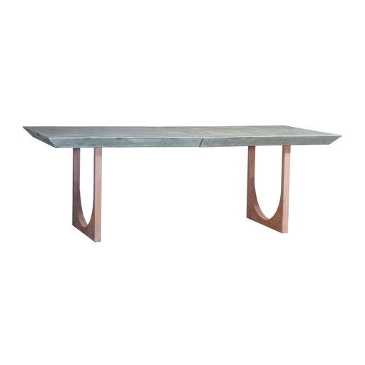 7011-1498 Innwood Dining Table Waxed Concrete, Blonde Stain