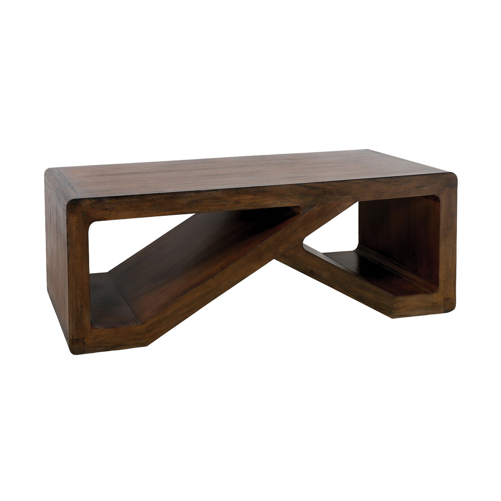 7011-1503 Clip Coffee Table Brown Stain