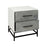 7011-1508 Dovetail Side Chest Gray Stained Wood, White, Oil Rubbed Bronze