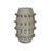 7011-1544 Ball Waxed Concrete Vase Waxed Concrete, Polished Aluminum
