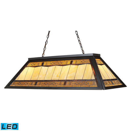 ELK Lighting 70113-4-LED Tiffany Game Room Lighting 4 Light Billiard/Island Light In Tiffany Bronze Metal Tiffany Bronze Free Parcel Delivery