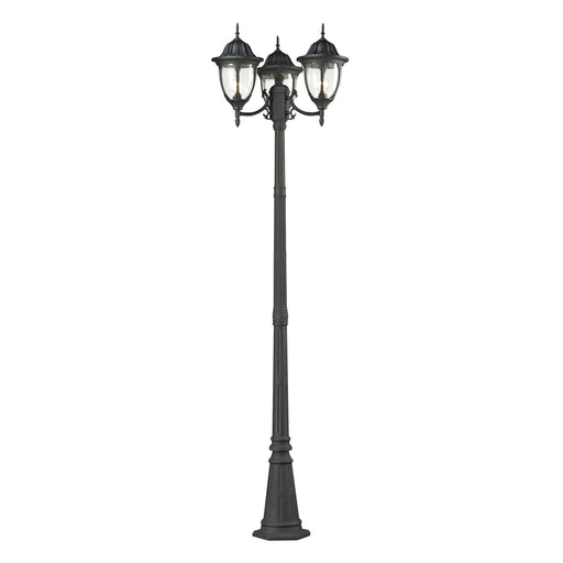 Thomas Lighting 7153EP/73 Central Square 3 Light Post Mount Lantern In Charcoal Charcoal
