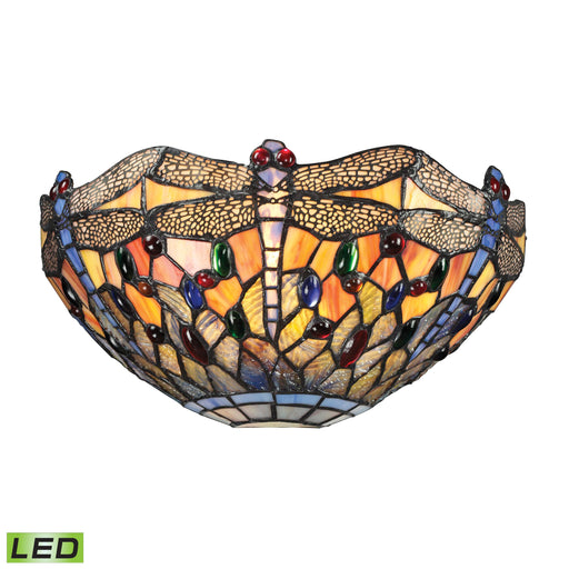 ELK Lighting 72077-1-LED Dragonfly Collection 1 Light Sconce In Dark Bronze Dark Bronze Free Parcel Delivery