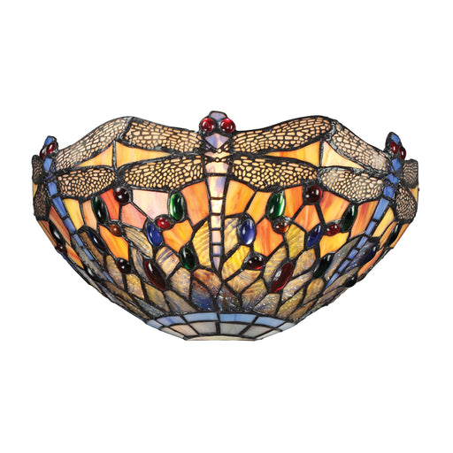 ELK Lighting 72077-1 Dragonfly Collection 1 Light Sconce In Dark Bronze Dark Bronze Free Parcel Delivery