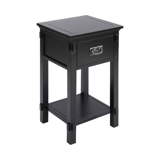 76312 Cheboygan Accent Table Black