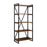 76339 South Loop Bookshelf Dark Brown, Black