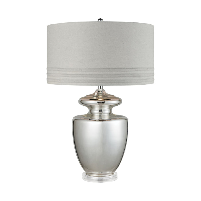 77049 Vanessa Table Lamp Silver Mercury Glass