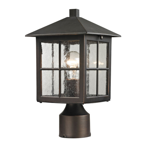 Thomas Lighting 8201EP/70 Shaker Heights 1 Light Post Mount Lantern In Hazelnut Bronze - Medium Hazelnut Bronze