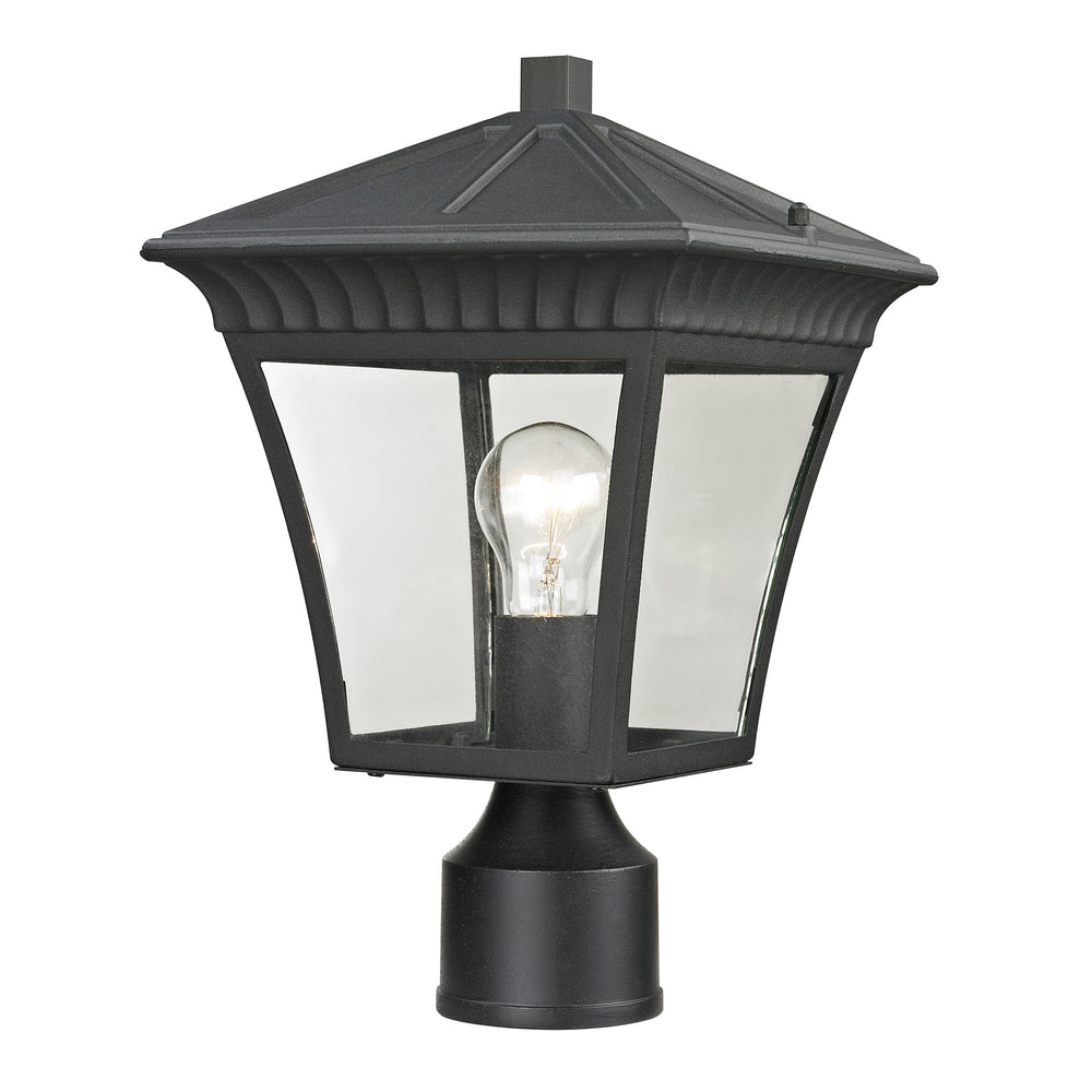 Thomas Lighting 8411EP/65 Ridgewood 1 Light Post Mount Lantern In Matte Textured Black - Medium Matte Textured Black