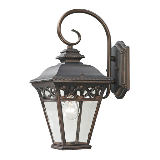 Thomas Lighting 8501EW/70 Mendham 1 Light Coach Lantern In Hazelnut Bronze - Small Hazelnut Bronze