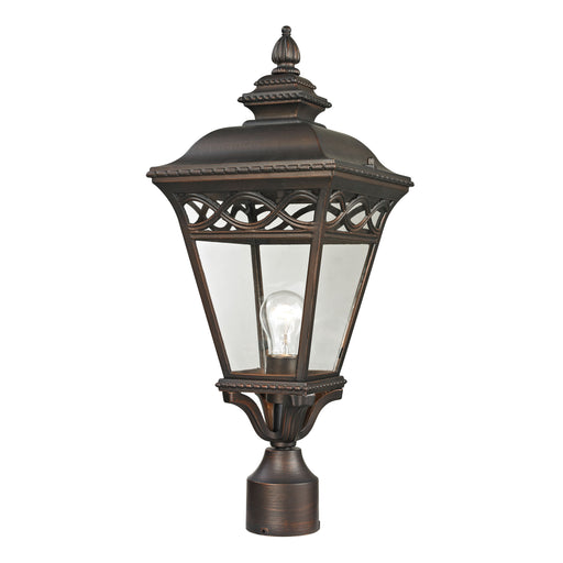 Thomas Lighting 8511EP/70 Mendham 1 Light Post Mount Lantern In Hazelnut Bronze - Medium Hazelnut Bronze