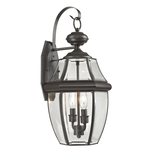 Thomas Lighting 8602EW/75 Ashford 2 Light Coach Lantern In Oil Rubbed Bronze - Medium Antique Brass, Clear Glass