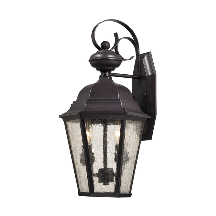 Thomas Lighting 8902EW/75 Cotswold 2 Light Outdoor Sconce In Oil Rubbed Bronze Oil Rubbed Bronze