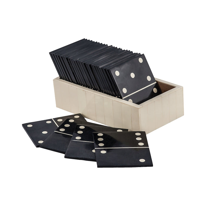 8903-047 Motto Domino Game Black, White
