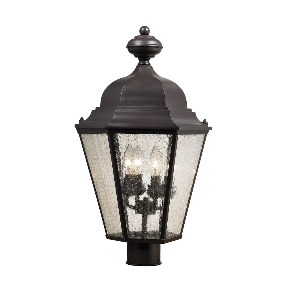 Thomas Lighting 8903EP/75 Cotswold 4 Light Post Mount Lantern In Oil Rubbed Bronze Oil Rubbed Bronze