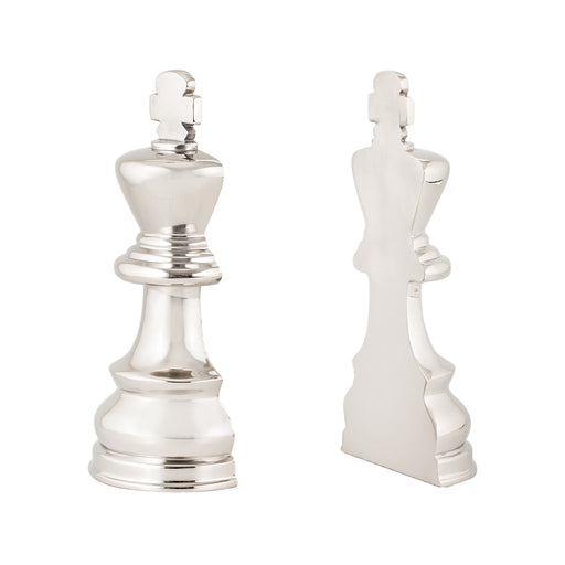 8984-025/S2 Chess Piece Book Ends Nickel