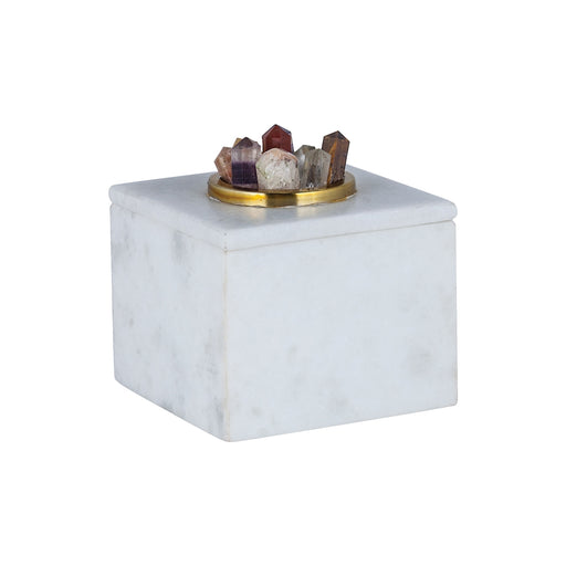 8986-006 Christiana Marble Box White Marble