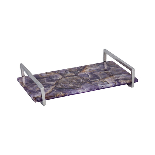 8986-007 Amethyst Tray Amethyst, Polished Nickel
