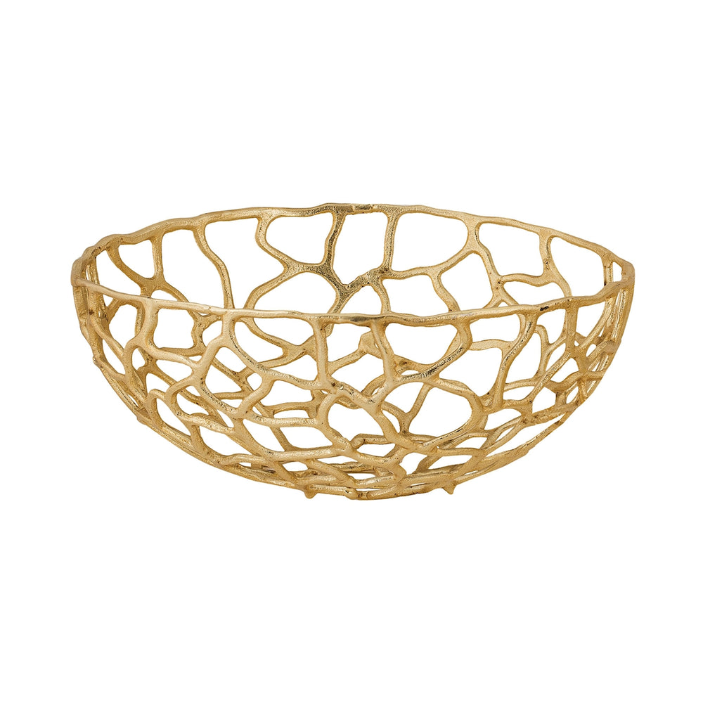 8990-006 Large Free Form Bowl Gold