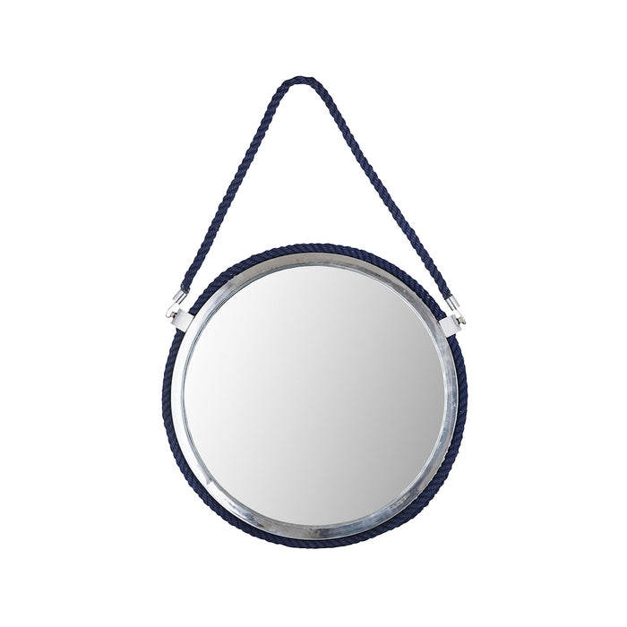 8990-052 Port Luis Mirror Navy Blue, Polished Nickel