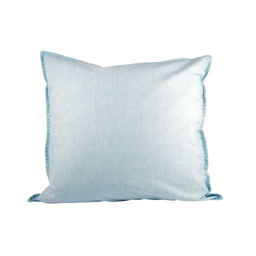 902185 Chambray 24 X 24 Pillow In Blue - Cover Only Cameo Blue