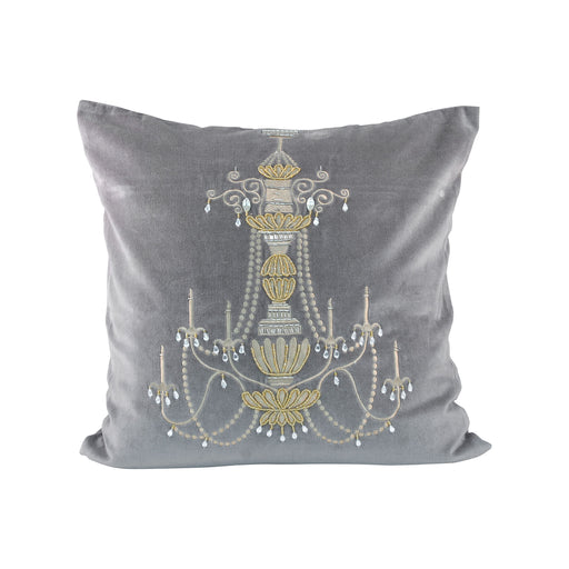 902307 Chandelier 20 X 20 Pillow Chateau Grey, Gold