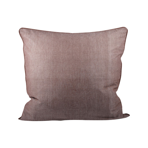 902529 Chambray 24 X 24 Pillow In Earth - Cover Only Earth Tone