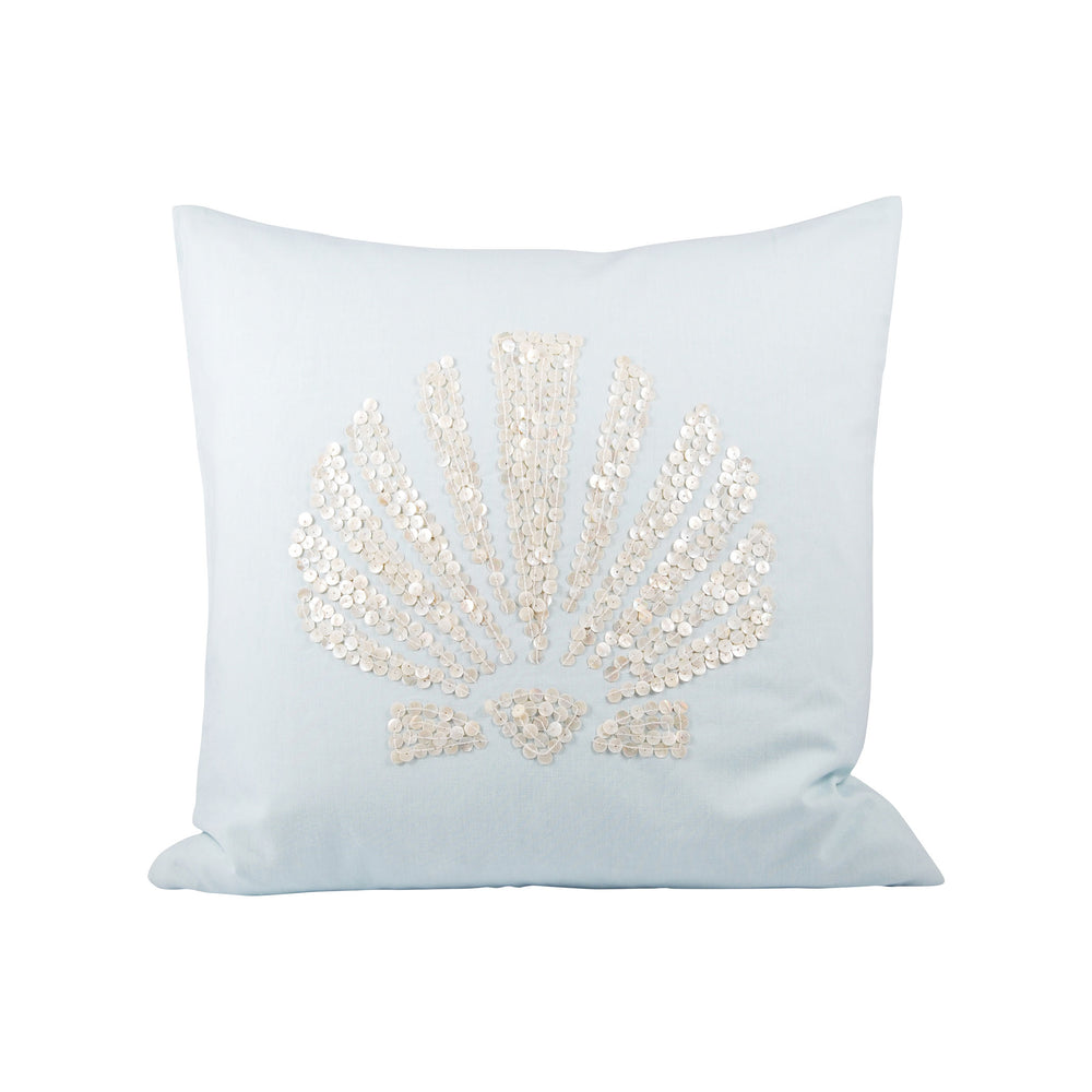 902581 Seaside 20 X 20 Pillow Fw - Cover Only Light Blue