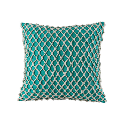 905346 Cassio 20 X 20 Pillow - Cover Only Crema, Teal