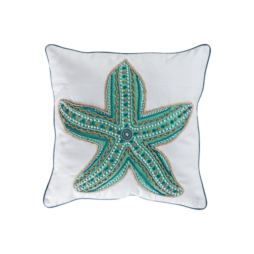 906312 Caspian 20 X 20 Pillow - Cover Only Crema, Seafoam, Turquoise