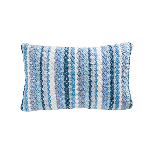 906411 Brookline 20 X 12 Pillow - Cover Only Crema, Grey, Turquoise