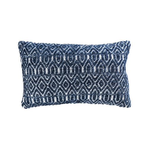906442 Belcrest 16 X 26 Lumbar Pillow - Cover Only Crema, Soft Denim