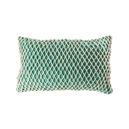 906497 Cassio 16 X 26 Lumbar Pillow - Cover Only Aqua, Deep Azure