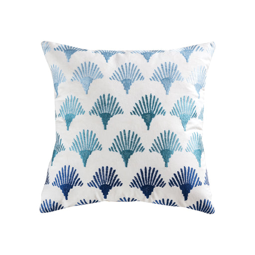 906787 Sanibel 20 X 20 Pillow Blue, Crema, Grey