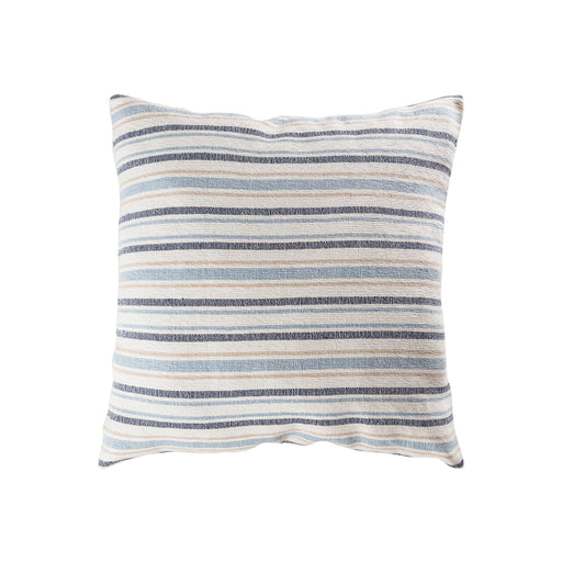906855 Mossley Stripe 24 X 24 Pillow Blue, Crema
