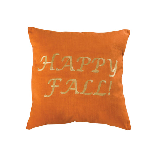 907142 Happy Fall 20 X 20 Pillow - Cover Only Harvest, Crema