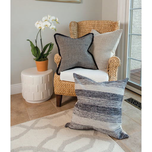 907289 Jersey 24 X 24 Pillow Slate, Chateau Grey, Dove