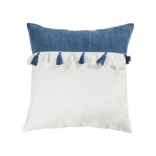 907715-P Ryder 20 X 20 Pillow - Cover Only Denim, White