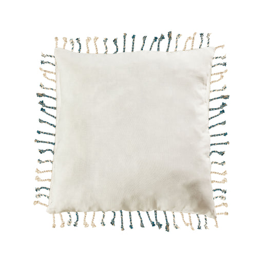 907722-P Montell 24 X 24 Pillow - Cover Only White, Blue