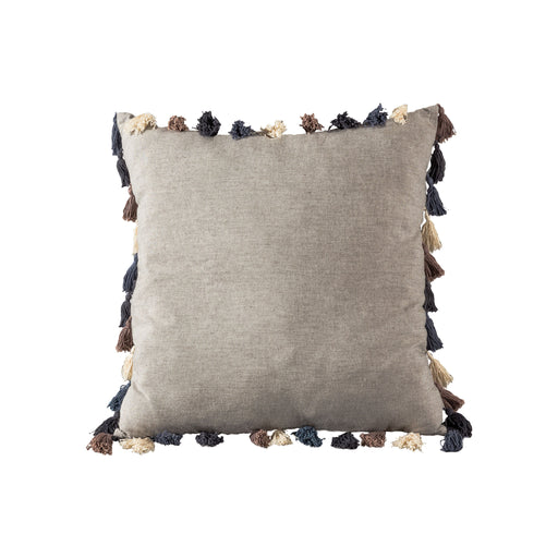 907739 Connor 20 X 20 Pillow White, Blue, Grey