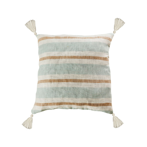907821-P Carril 24 X 24 Pillow - Cover Only Light Blue, White, Sand