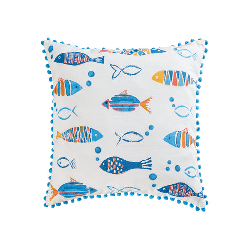 907838 Straia Schools 20 X 20 Pillow Multi, Blue