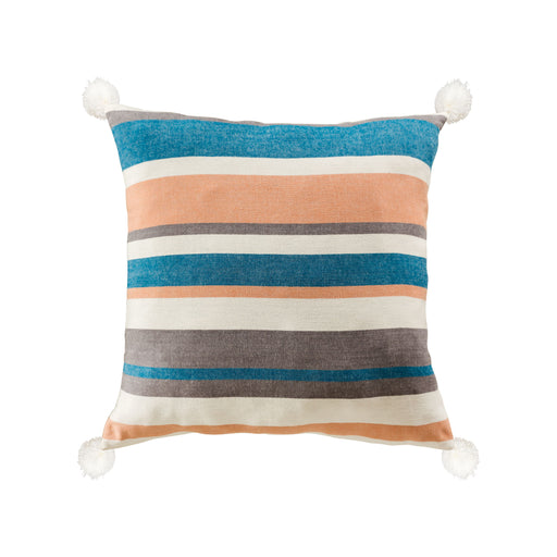907845 Straia 24 X 24 Pillow Blue, White, Grey