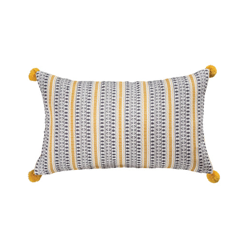 908002 Marley 20 X 12 Pillow Mustard, Blue