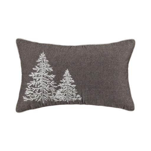 908125 Glistening Trees 16 X 26 Pillow Chateau Grey, Snow