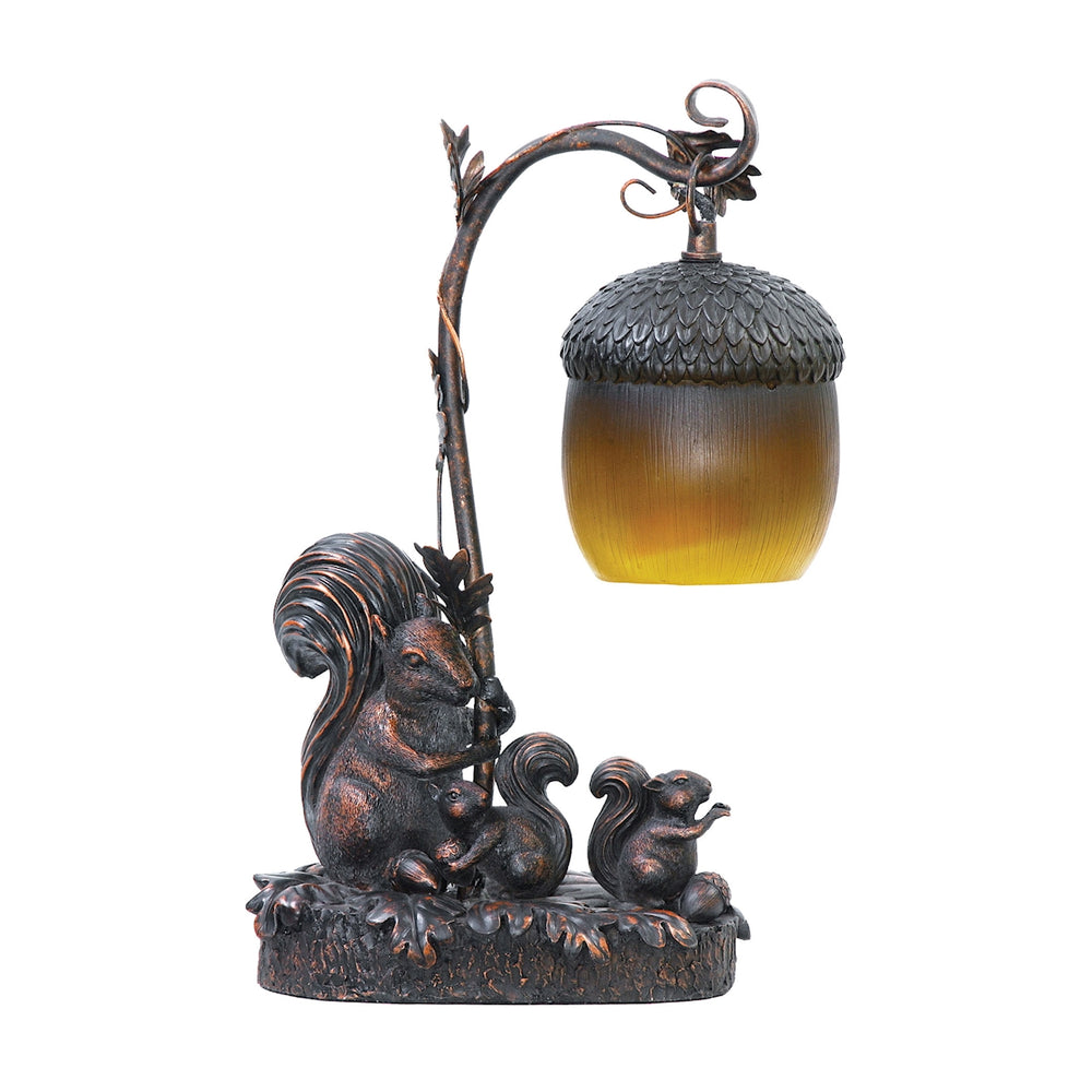 91-768 Squirrel Acorn Light Burwell Bronze