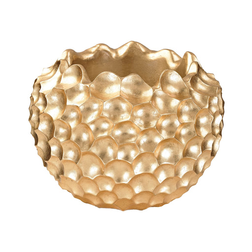 9166-030 Coral Texture Vessel Gold